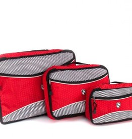 HEYS PACKING CUBE 3PC RED ECOTEX