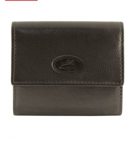 MANCINI LEATHER RFID RED CREDIT CARD CASE