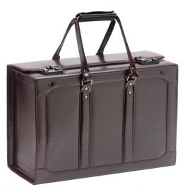 MANCINI LEATHER BLACK WHEELED CATALOGUE CASE