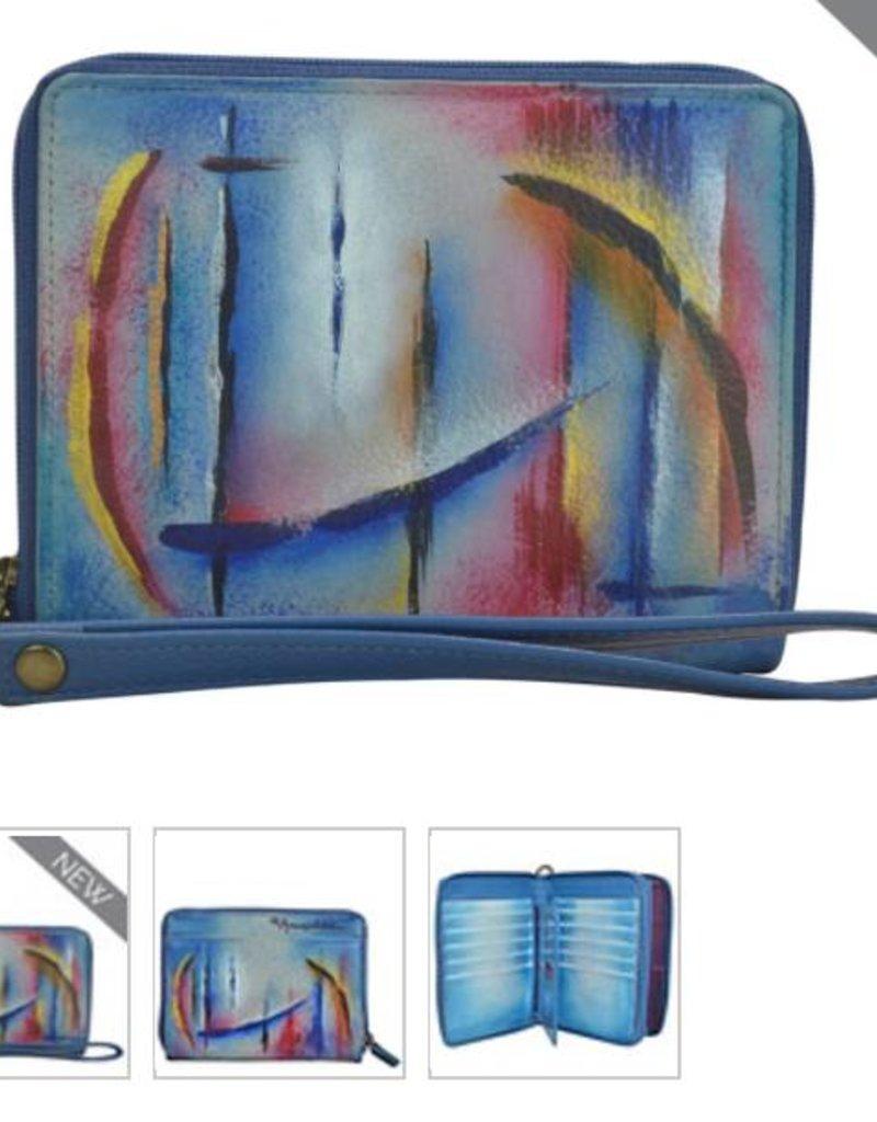ANUSCHKA 1143 NSK Zip Around Organizer RFID Clutch Wallet