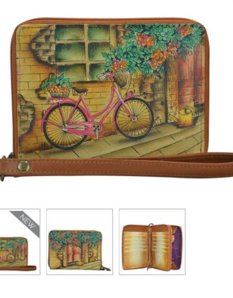 ANUSCHKA 1143 WHP Zip Around Organizer RFID Clutch Wallet Wings of Hope