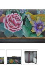 ANUSCHKA 1139 VBQ RFID Blocking Two fold French Wallet Vintage Bouquet