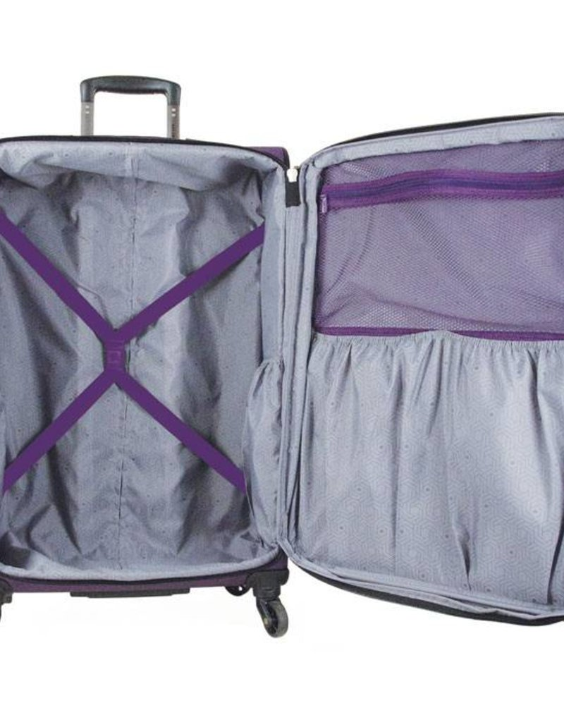 DELSEY 32280 PURPLE 19 CARRY ON SPINNER