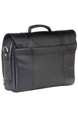 MANCINI LEATHER 63200 BLACK LEATHER BRIEFCASE