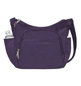 TRAVELON Cross-Body Bucket Bag PURPLE