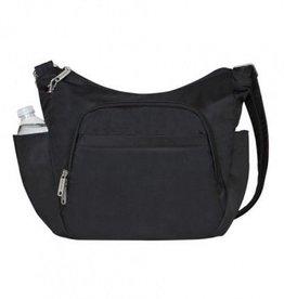 TRAVELON Cross-Body Bucket Bag BLACK