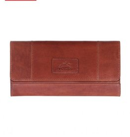 MANCINI LEATHER COGNAC LADIES LEATHER WALLET RFID