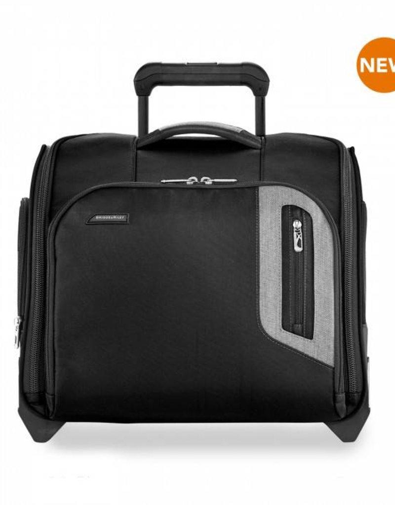 93f43c90e BRIGGS & RILEY BU216-4 BLACK ROLLING CABIN BAG - Capital City Luggage