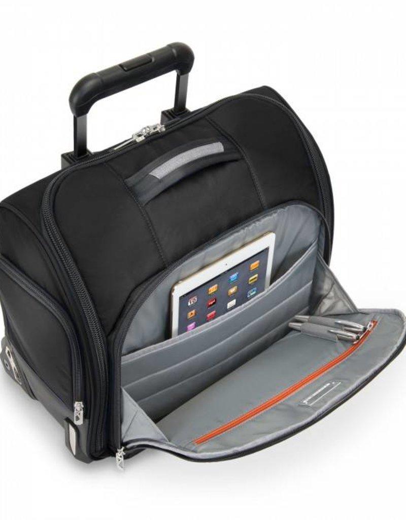 BRIGGS & RILEY BU216-4 BLACK ROLLING CABIN BAG#