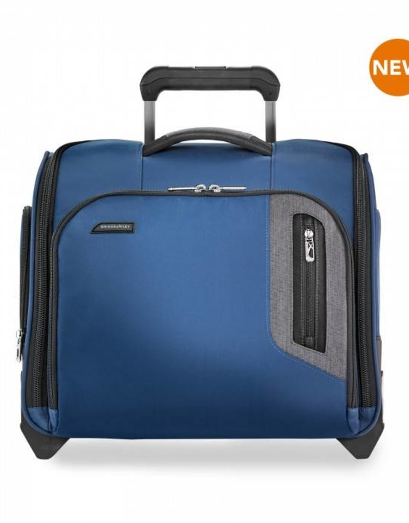 BRIGGS & RILEY BU216-44 BLUE ROLLING CABIN BAG