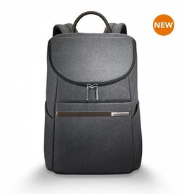 BRIGGS & RILEY GREY SMALL WIDE MOUTH BACKPACK