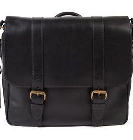 BOSCA 843224 TACCONI MESSENGER ITALIAN LEATHER BLACK