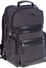 TRAVELWAY A2150 BLACK CANVAS BACKPACK