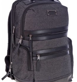 A2150 BLACK CANVAS BACKPACK