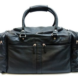 SGI LEATHERGOODS 220 LEATHER UNISEX BAG BLACK