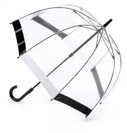FULTON BLACK WHITE BIRDCAGE UMBRELLA