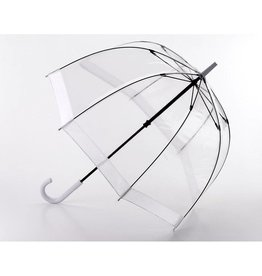 FULTON WHITE BIRDCAGE UMBRELLA