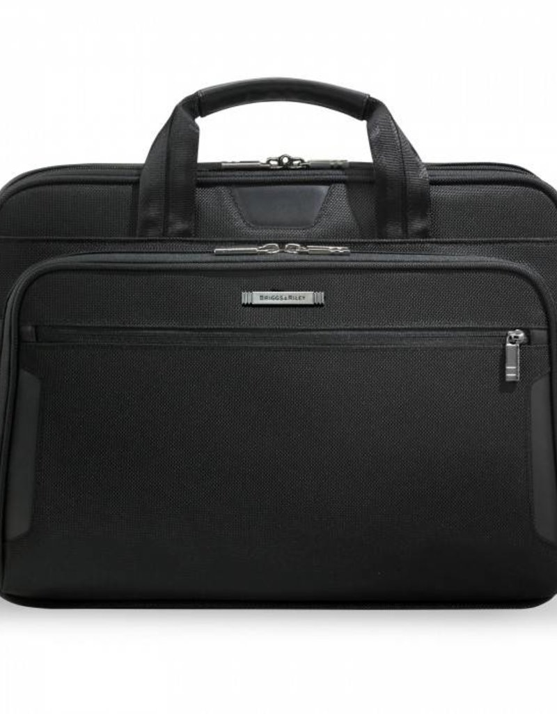 ccb3ebab4165 BRIGGS & RILEY KB206-4 BLACK MEDIUM SLIM BRIEF # - Capital City Luggage