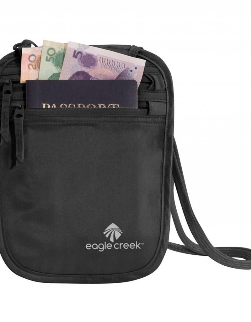 EAGLE CREEK EC041122 010 SILK NECK WALLET BLACK
