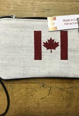 313432B MADE IN CANADA POUCH WITH FLAG