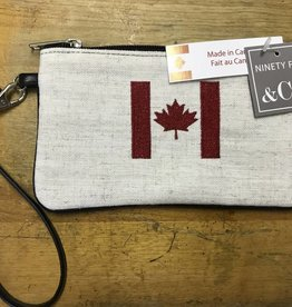 CANDYM 313432B MADE IN CANADA POUCH WITH FLAG