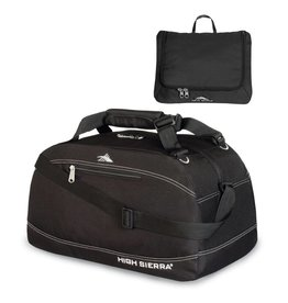 HIGH SIERRA BLACK 24 PACKNGO DUFFLE BAG