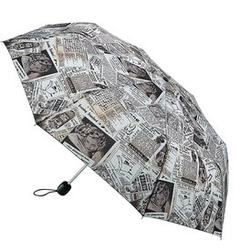 FULTON STOWAWY OLD NEWS UMBRELLA