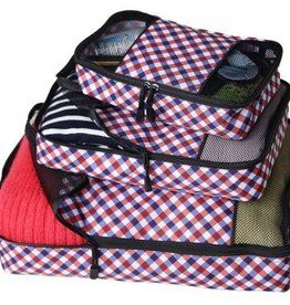 GINGHAM PACKING CUBE SET