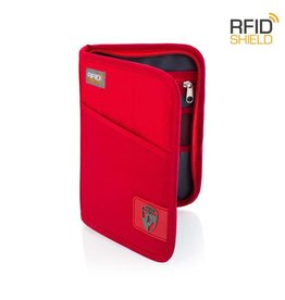 HEYS RFID PASSPORT WALLET RED