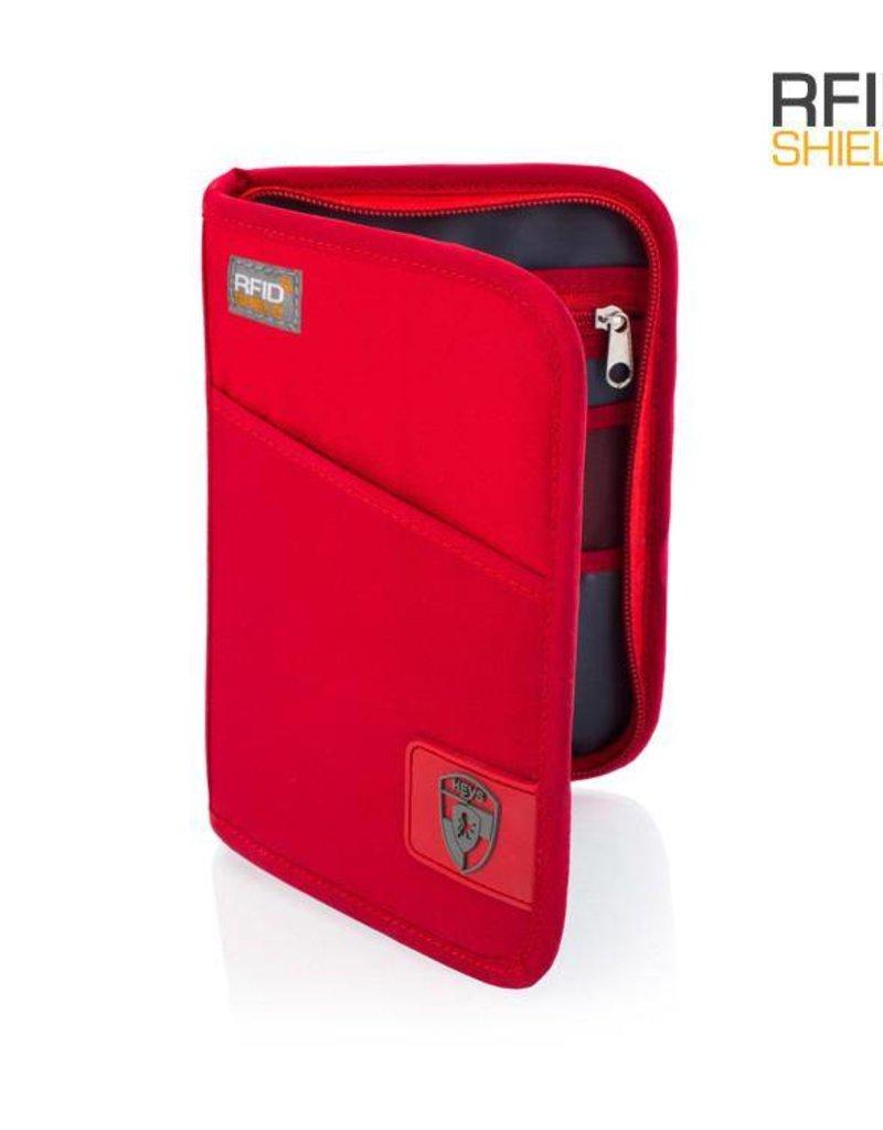 HEYS RFID PASSPORT WALLET RED