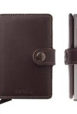 SECRID MINIWALLET RFID ORIGINAL DARK BROWN