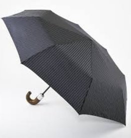 FULTON CHELSEA2BLACKSTEELSTRIPE UMBRELLA