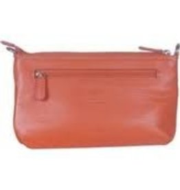 MANCINI LEATHER RUST LADIES LEATHER WALLET RFID