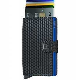 SECRID MINIWALLET CUBIC BLACK BLUE