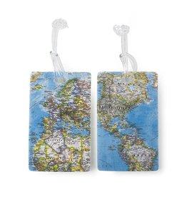 HEYS 2PC WORLD MAP TAGS