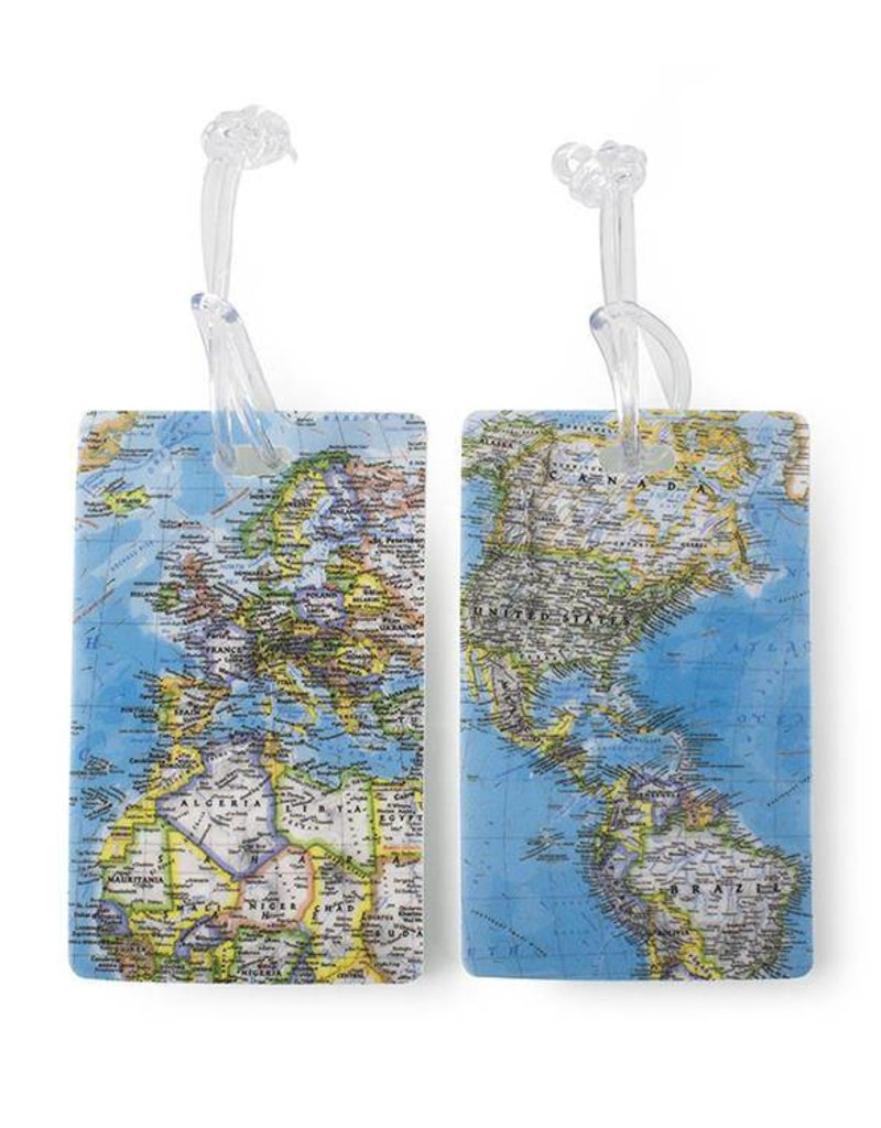HEYS 2PC WORLD MAP TAGS