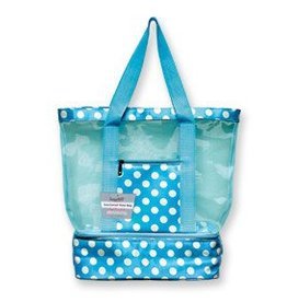 CANADIAN GIFT CONCEPTS INSULATED TOTE DOT BLUE