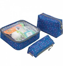 TRAVELON 3 Piece Toiletry Packing Set DIAMOND