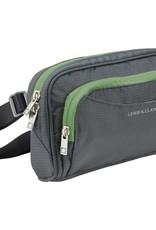 LEWIS N CLARK 1260 RFID CHARCOAL WAIST BAG