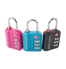 AUSTIN HOUSE PINK 3 dial combination padlock
