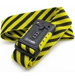 PACSAFE STRAPSAFE 100 TSA LUGGAGE STRAP YELLOW 10460402