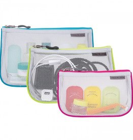 TRAVELON TRAVELON SET OF 3 ASSORTED PIPED POUCHES