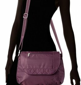 TRAVELON ANTI-THEFT CLASSIC CROSS BODY BAG EGGPLANT