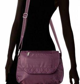 TRAVELON ANTI-THEFT CLASSIC CROSS BODY BAG EGGPLANT