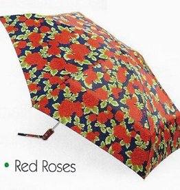 FULTON RED ROSES OPEN CLOSE UMBRELLA