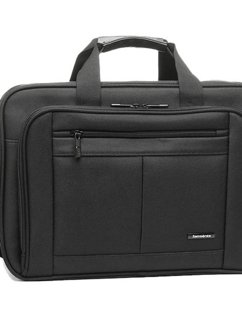 4811e4a95d SAMSONITE 432701041 BLACK LEATHER BRIEFCASE - Capital City Luggage