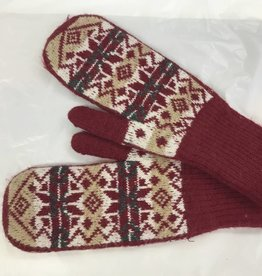 PARIS GLOVES RED MITTENS ONE SIZE