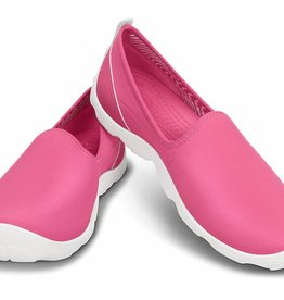 CROCS BUSY DAY SKIMMER W7 PINK WHITE