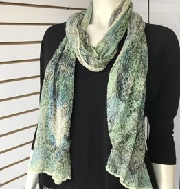 SHARANEL SCARF DRAGON PRINT GREEN