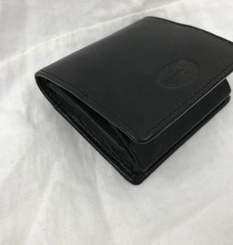 MANCINI LEATHER BLACK RFID COIN POCKET